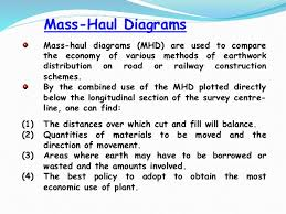 engineering surveying ii       mass haul diagrams