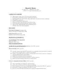 How To Write A Police Resume Resume For Your Job Application