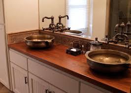 vanity countertops teak face grain custom wood vanity countertop