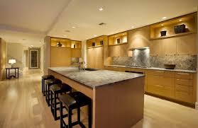 large island design and leather barstools plus contemporary kitchen lighting feat marble backsplash idea best kitchen lighting ideas