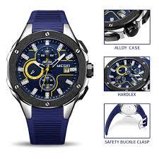 Online Shop <b>MEGIR Men</b> Sport Watch Chronograph Silicone Strap ...