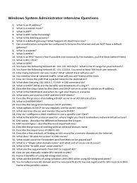 windows system administrator interview questions txt windows system administrator interview questions txt scribd com