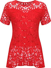 Lace - Blouses & Shirts / Tops, T-Shirts & Blouses ... - Amazon.co.uk