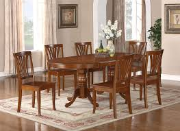 Dining Room Table And 8 Chairs 9pc Oval Newton Dining Room Set With Extension Leaf Table 8 Chairs