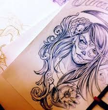 sugar <b>skull</b>..amazing! she will be slightly more gypsy-like though ...