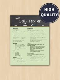 unique teaching resume related items   etsyelementary school teacher resume  amp  cover letter   modern resume template   instant download   microsoft