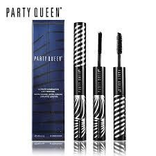 Party Queen 2 In 1 <b>Thick</b> Black Mascara Gel + <b>3D</b> Fiber <b>Lengthening</b> ...
