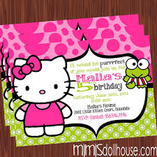 hello kitty invitation lime mimi s dollhouse lime hello invite display no pic