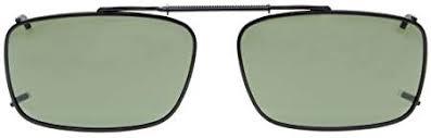Eyekepper <b>Metal</b> Frame Rim <b>Polarized Lens</b> Clip On <b>Sunglasses</b> 54 ...