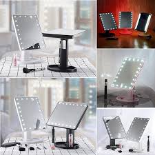 <b>hot selling</b> 16/<b>22</b> LED Touch Screen Makeup Mirror 360 Rotat Table ...