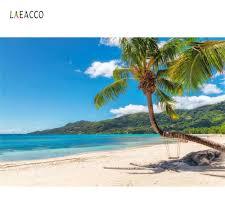 <b>Laeacco</b> Tropical Backgrounds Summer Sea Beach Sand <b>Cloudy</b> ...
