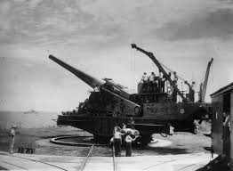 gallery years of the canal in photos newshour photo circa 1942 of one of the 14 inch guns that guarded the canal