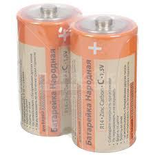 <b>Батарейка TDM Electric</b> C R14 Zinc Carbon 1.5V SH-2 Народная ...