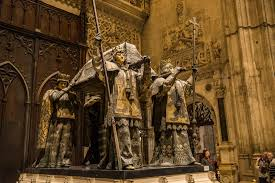 tomb of christopher columbus sevilla spain travel past  columbus tomb seville cathedral 2