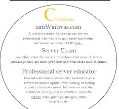 create a great bartender resume  iamwaitress certifications additional skills snippet