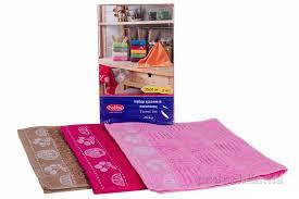 <b>Набор кухонных полотенец Hobby</b> Meyve фуксия, розовый ...