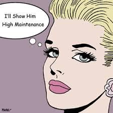 I'll show him high maintenance cartoon image