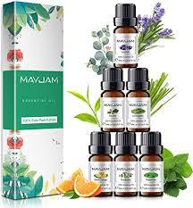MAYJAM <b>Essential Oils</b> Set 6 x 10 mL, Eucalyptus, <b>Pure Lavender</b> ...