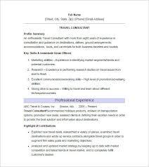 11 sample consultant resume templates free word excel pdf junior travel consultant resume