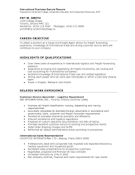 Sample Of International Resume For Career Objective With ... sample of international resume for career objective with highlights of qualifications and related work experience as