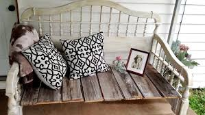 diy upcycled rustic bedhead bench chalk paint outdoor furniture painted furniture repurposing bench painted chalk paint