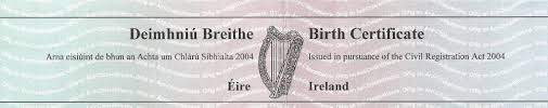 Image result for birth and death certificates ireland
