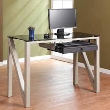 ikea work space design concept features wooden computer desk and n foot black ikea glass top desk