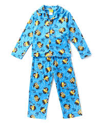blue despicable me pirate minions button up pajama set boys zulily women