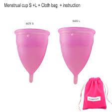 <b>2pcs</b> (S+L) <b>menstrual cup</b> S L cup feminine hygiene vagina care ...