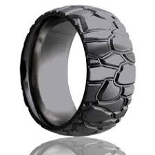 <b>DAMASK</b> | <b>Damascus Steel</b> Ring | Flat Band | Beveled Edges | 8mm ...
