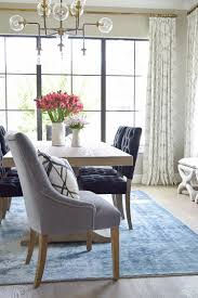 Navy Living Room Chair Home Tour Tulip Table Tufted Dining Chairs And Chairs