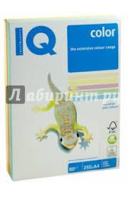 """<b>Бумага</b> для печати <b>IQ</b> COLOR MIX PALE, 5 цветов, 250 листов ..."