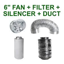 """6""""/150MM COMBO - EXTRACTOR <b>FAN</b> + CARBON FILTER + ..."""