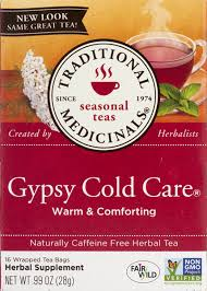 Traditional Medicinals <b>Seasonal Teas Gypsy Cold</b> Care 16 Count ...