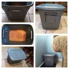 diy cat litter box just draw the square holes then use an exacto cat litter box furniture diy