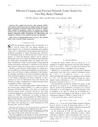 Efficient Compute-and-Forward Network Codes Search for Two-<b>Way</b> ...
