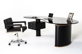 back to post black office table black office table