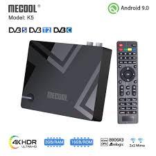 <b>Mecool K5</b> DVB S2 <b>DVB T2</b> Amlogic S905X3 Android 9.0 Quad ...