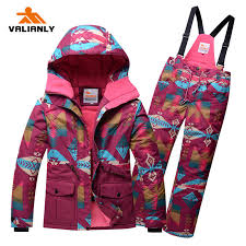 <b>2019 New Girls Ski</b> Suit Winter Kids Snowsuit Children Girls Ski Sets ...