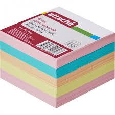<b>Attache Блок для</b> записей запасной разноцветный 9х9х5 см ...