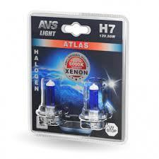 Галогенная <b>лампа AVS ATLAS</b> /5000К/ H7.12V.55W. 2шт.
