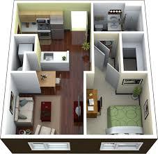 One Bedroom Apartments Decorating Apartments 1 Bedroom Apartment Floor Plan 3d Image Wayne Home Decor