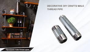 <b>10pcs</b>/<b>lot</b> Malleable iron Male Thread Pipes Galvanized Tube DIY ...