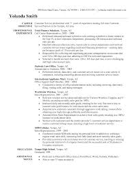customer service representative objectives for resume examples cover letter example of customer service objective resume by yolanda smith customer service representative