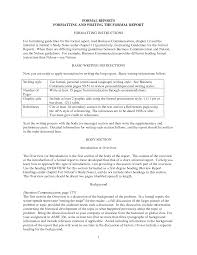 business formal reports formal business report sample