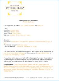 how to write an interior design letter of agreement design contract template