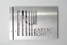 portfolio book no plastic sleeves custom portfolio design for karyne bond
