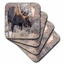 """Details about <b>Moose</b> Coaster Set """"Black Bay <b>Moose</b>"""" Tumbled Stone ..."""