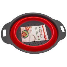 <b>Дуршлаг Bradex складной</b> круглый красный <b>TK</b> 0349 — купить в ...