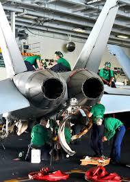 u s department of defense photo essay u s navy sailors perform maintenance on an f a 18e super hornet in the